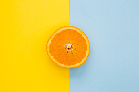 Minimal food orange fruit on bright background