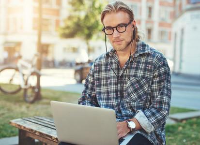Entrepreneur with laptop