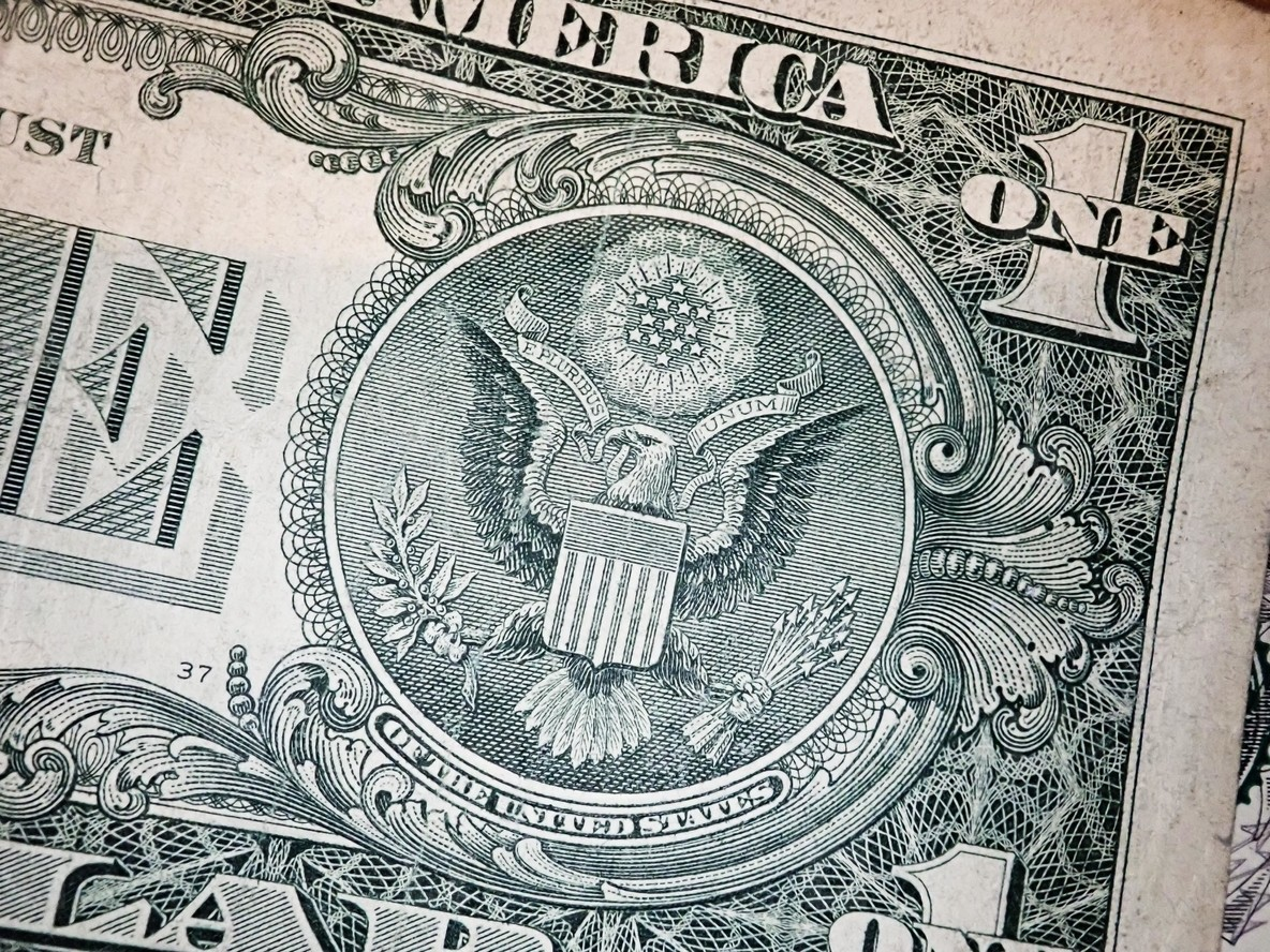 Background of US dollar bills  United states money