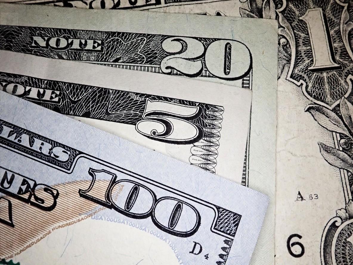 Background of US dollar bills  United states money