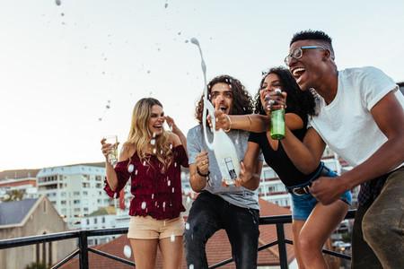 Friends celebrating party