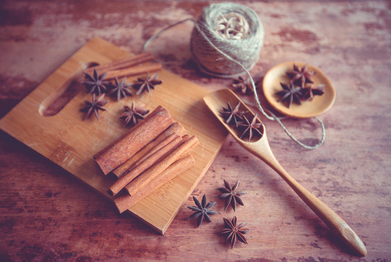 Star anise spice fruits