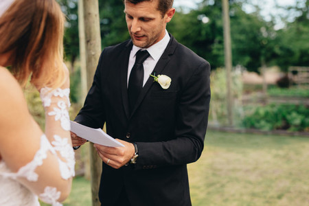 Wedding ceremony rituals of a couple
