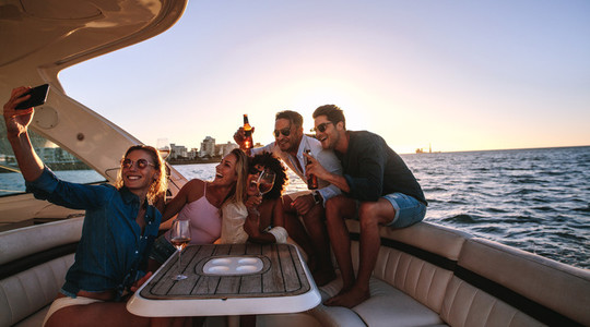 Selfie at boat party