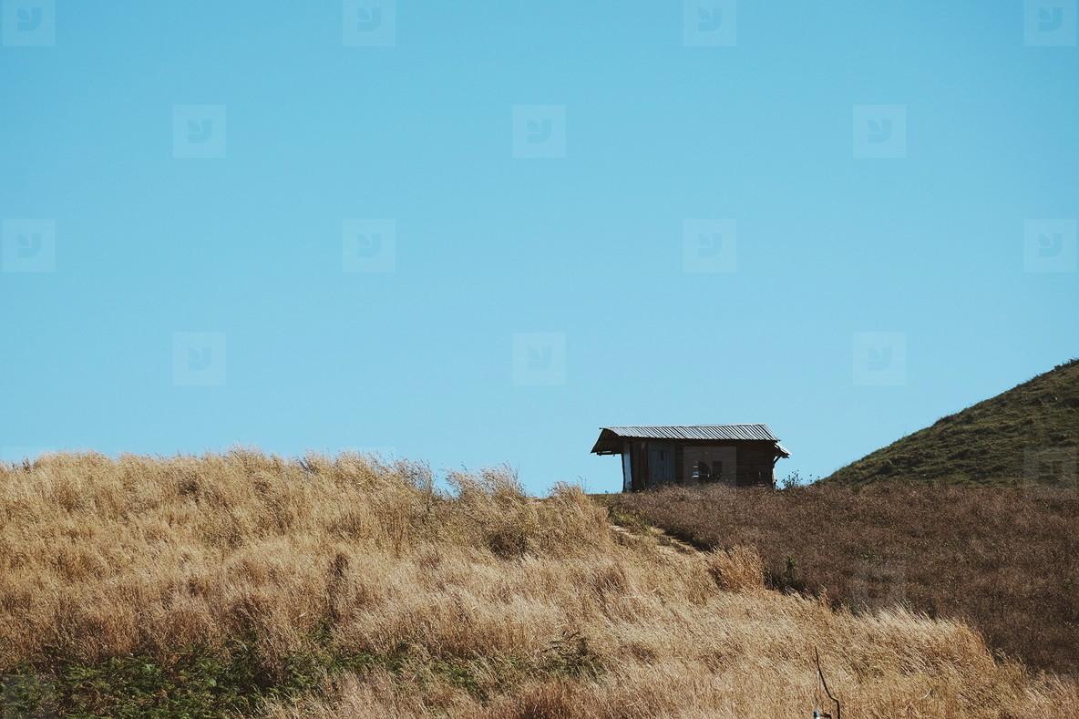 Small hut on mountain