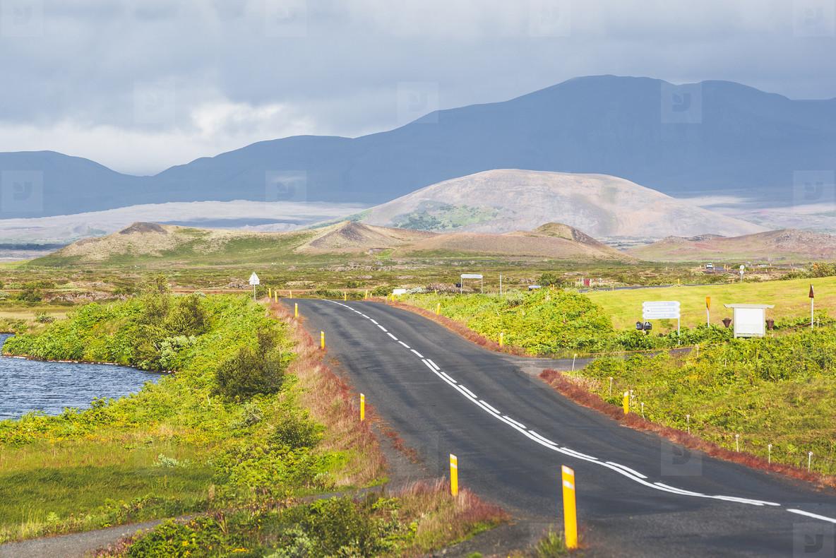 Akuyeri fjord road  Iceland