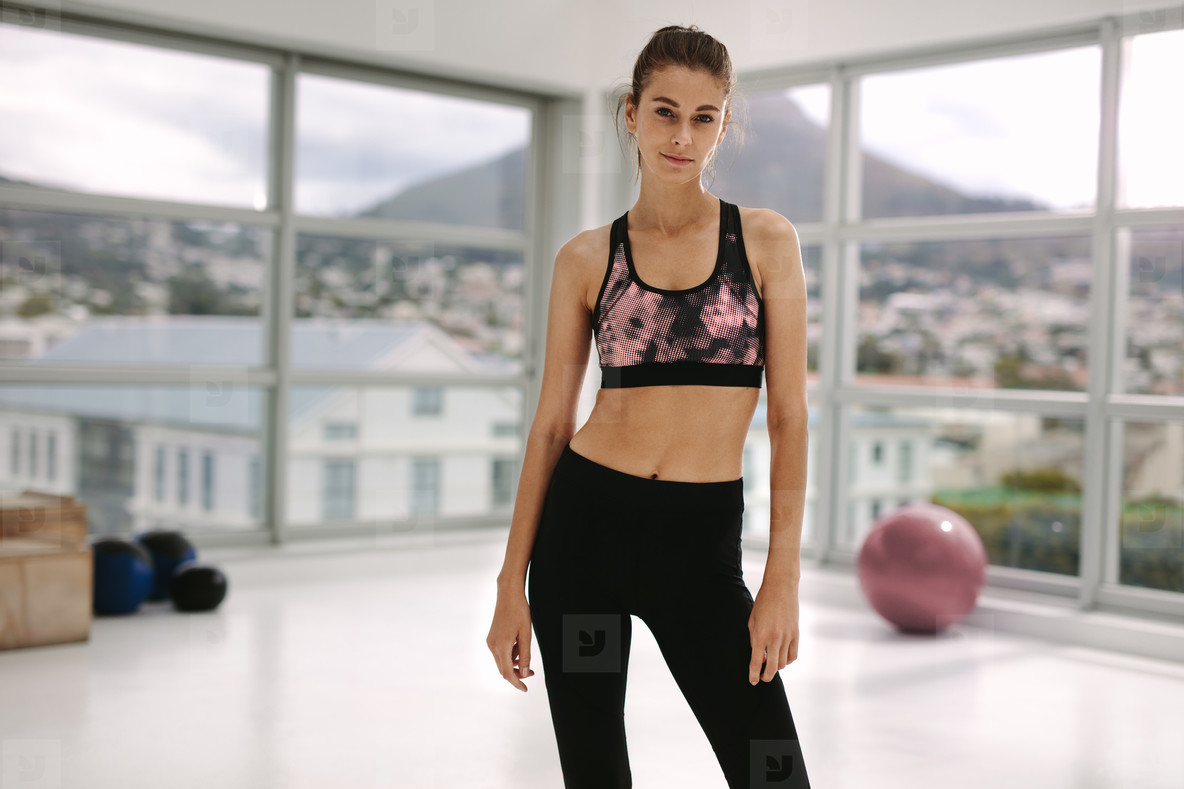 Fitness woman with slim body