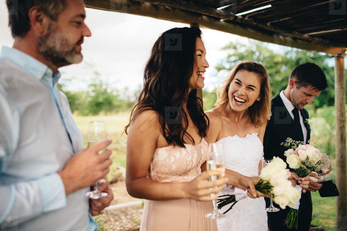 Bridesmaid speech at wedding reception