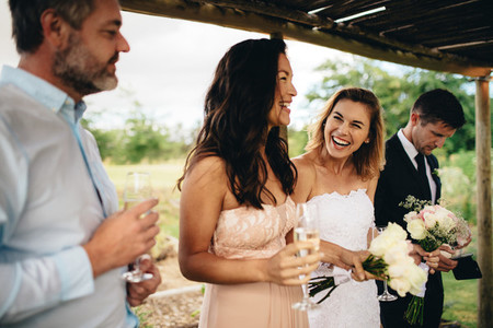 Bridesmaid speech at wedding reception
