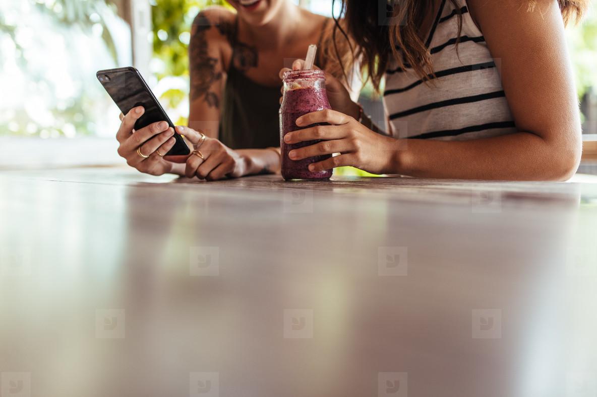 Women at a restaurant