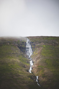 View of waterfall north Iceland