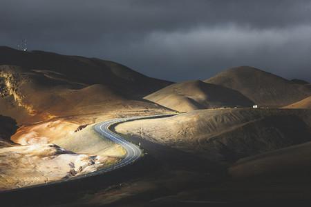 Asphalt road  Iceland