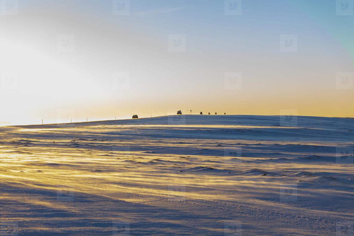 Landscape winter season