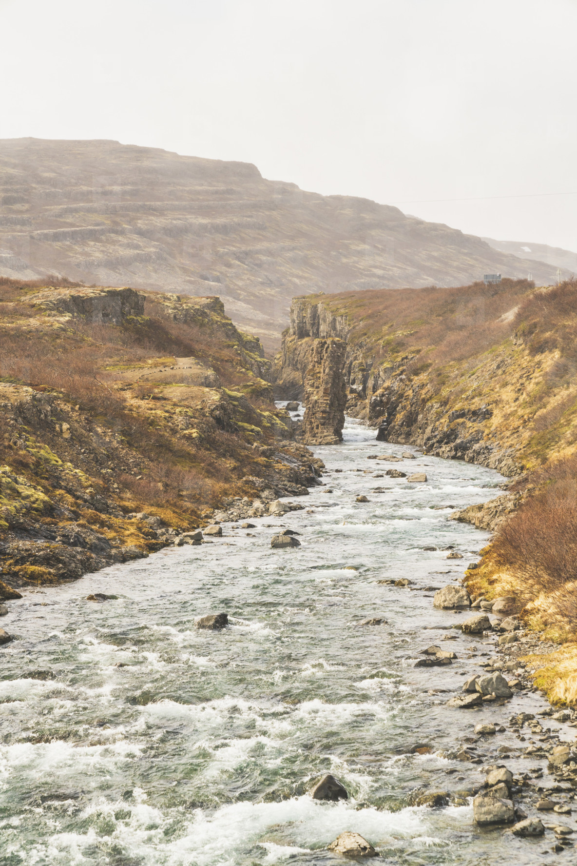 Waterfall Westfjords river
