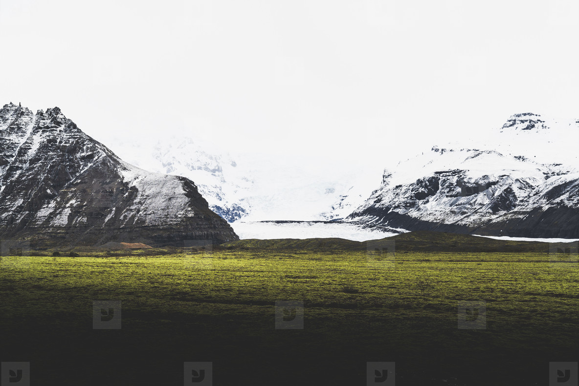 Spring Icelandic Landscape