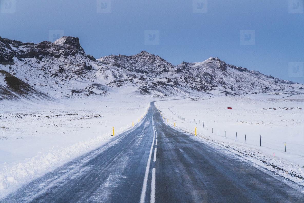 Road in Reykjanes Peninsula