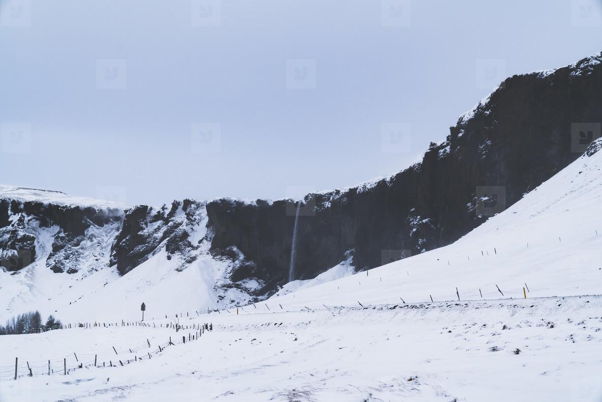 Winter Landscape  South Iceland