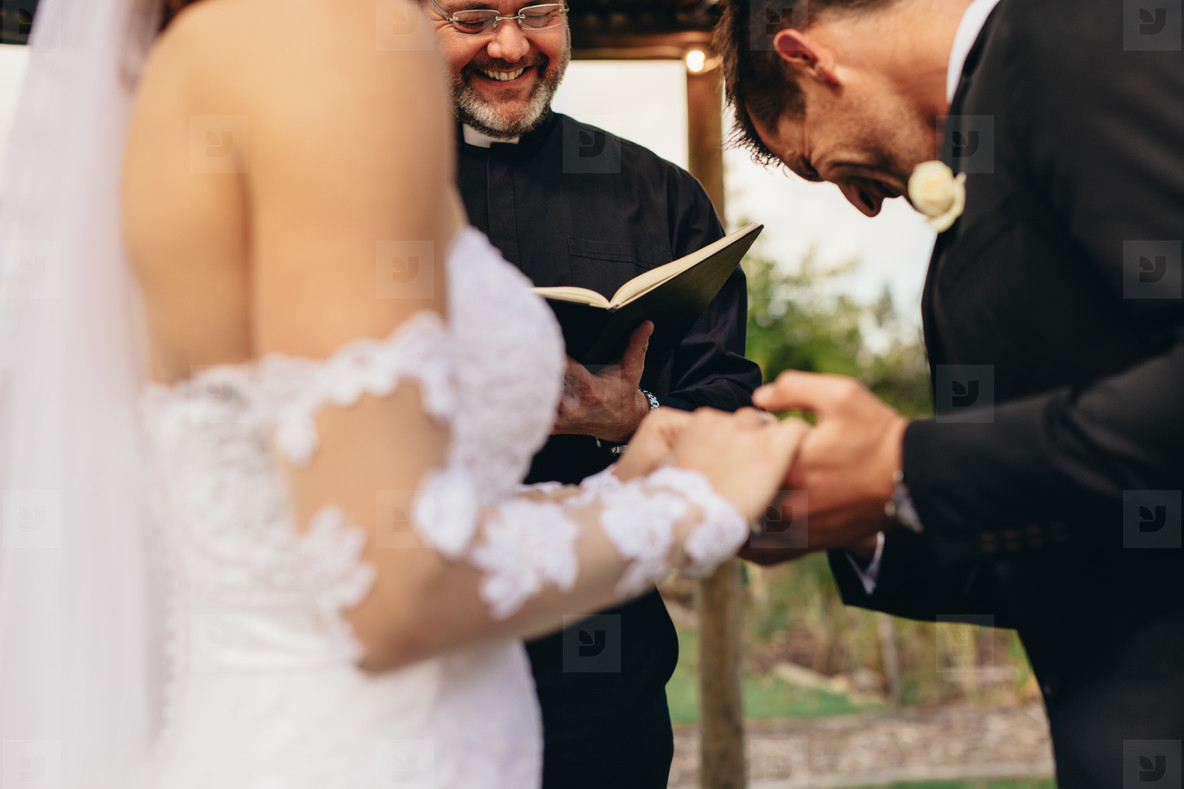 Traditional wedding ceremony rituals