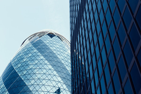 Modern architecture buildings in City of London