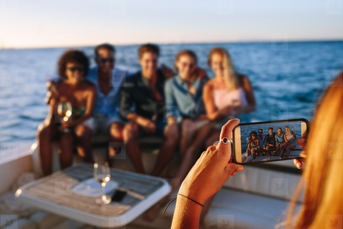 Capturing memories of boat party