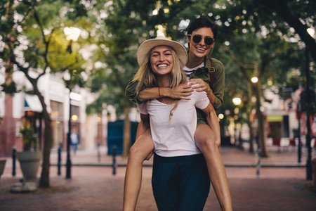 Beautiful friends having fun outdoors