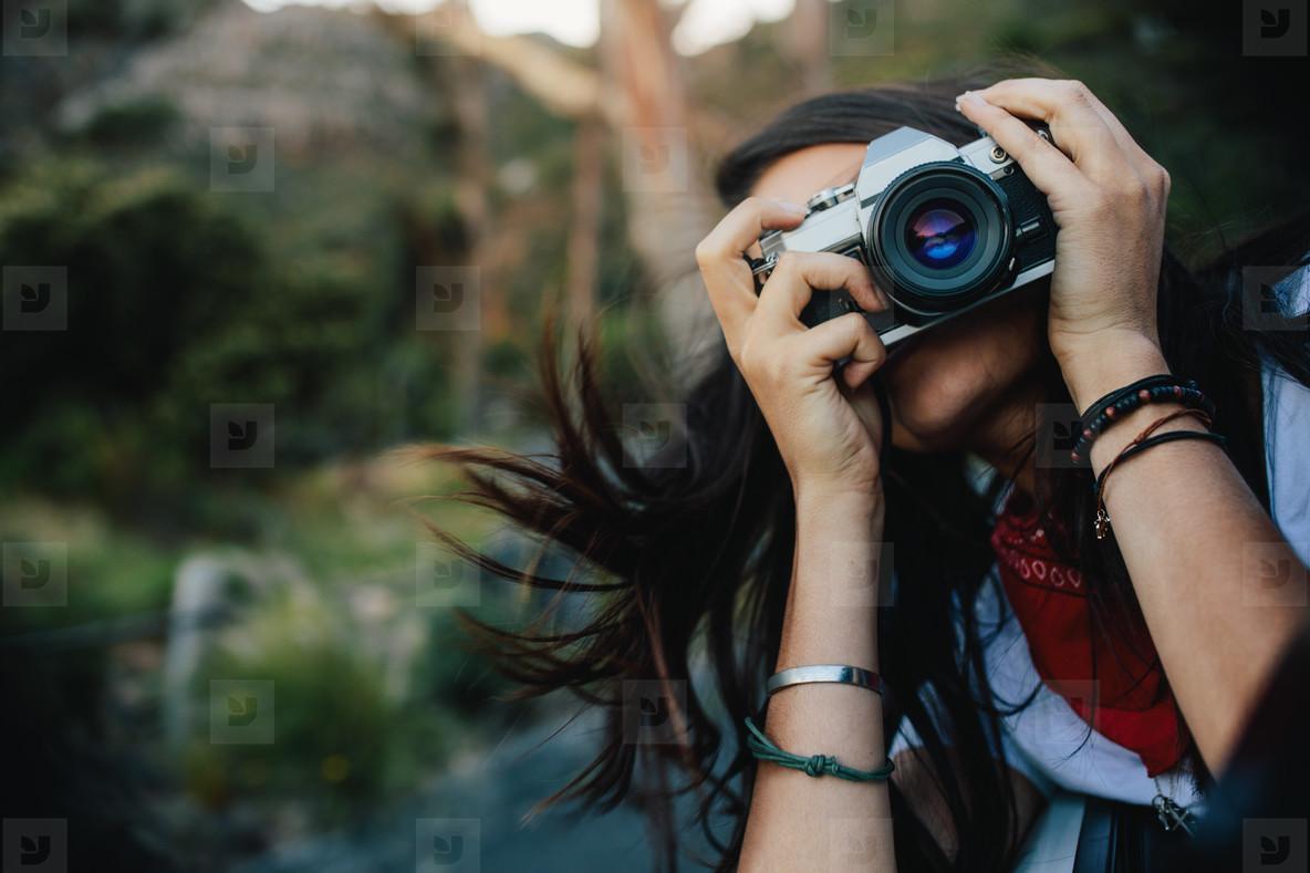 Making memories of her travel