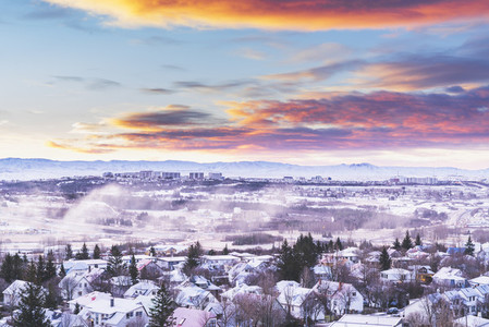 Cold winter morning Reykjavik