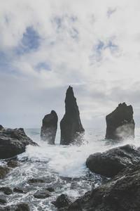 Rocky coast near Reykjanes