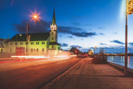 View of Church in Reykjavik