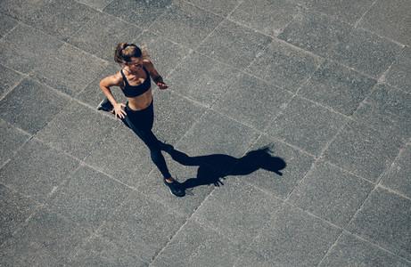 Sports woman on morning run