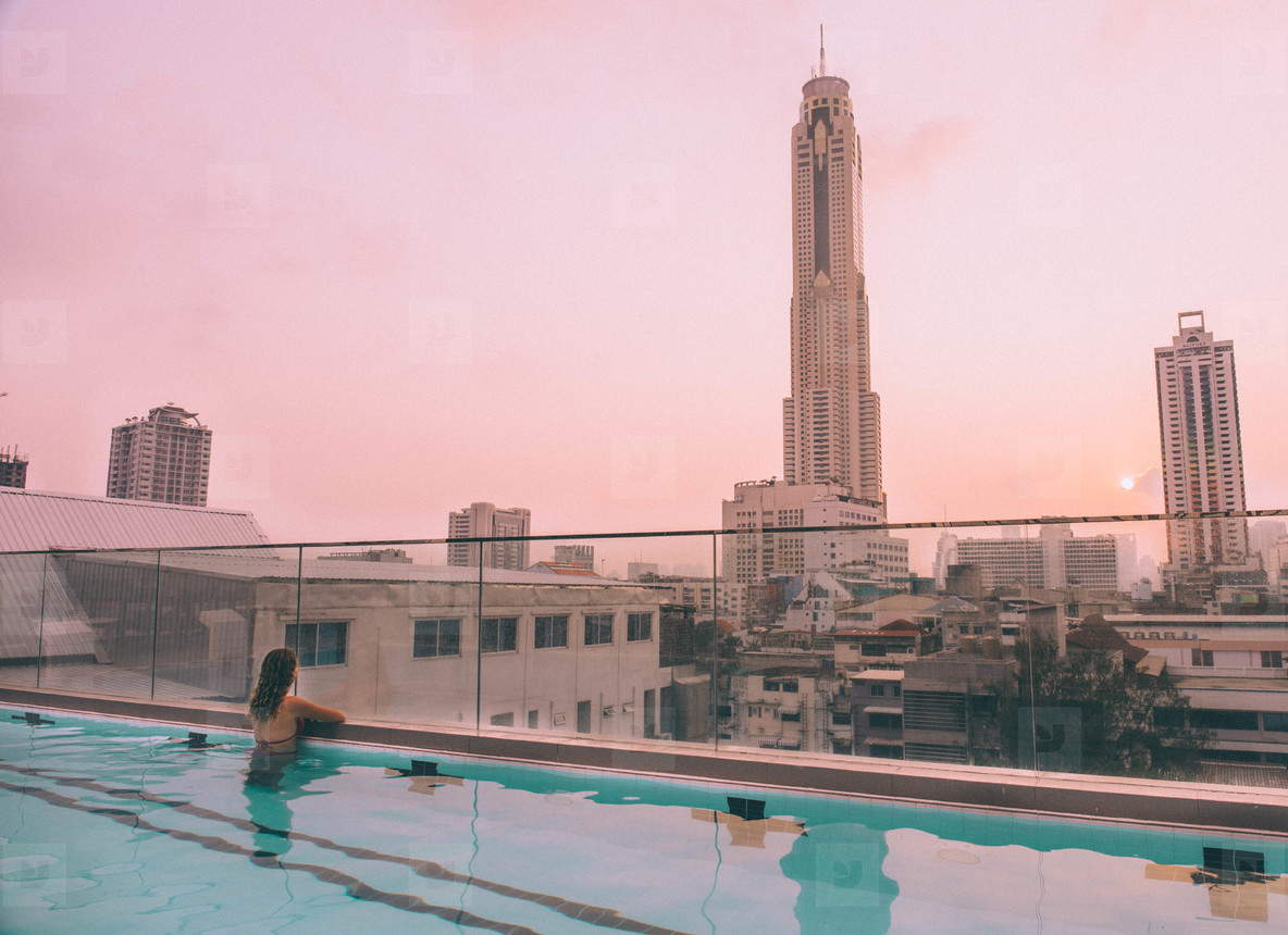 Sky swimming pool  Bangkok