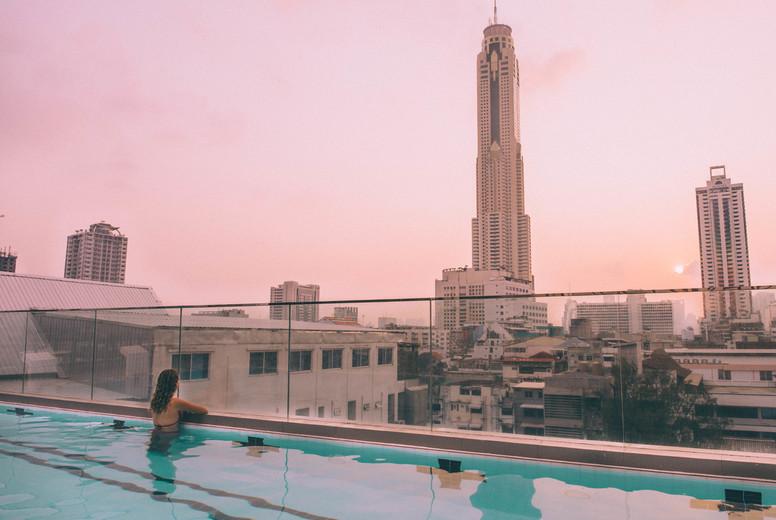 Sky swimming pool  Bangkok