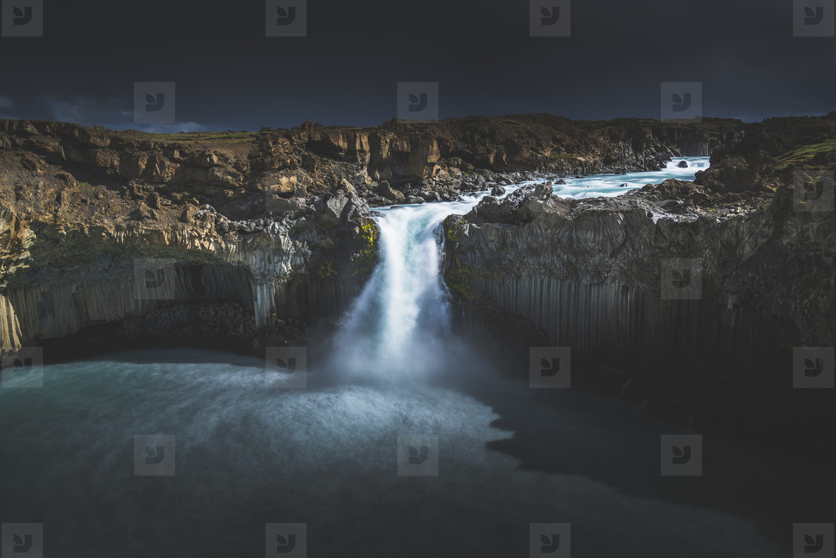Aldeyjarfoss Waterfall  05