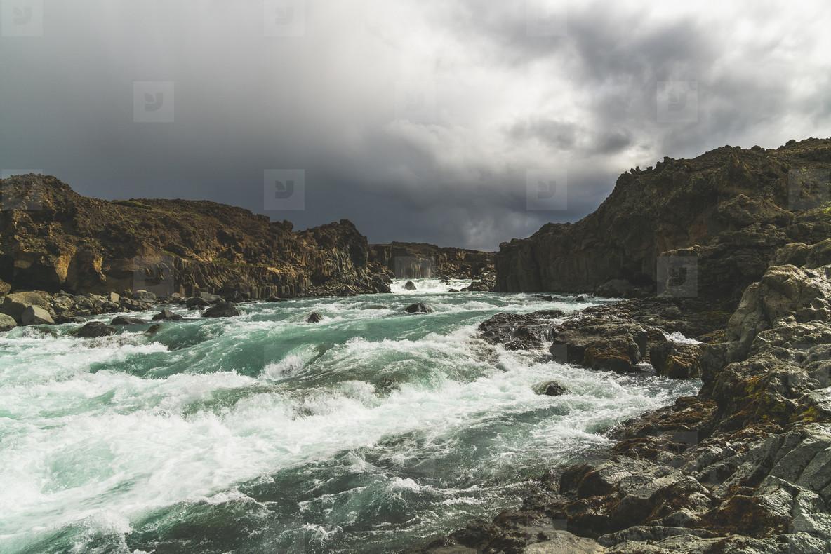 Aldeyjarfoss Waterfall  07