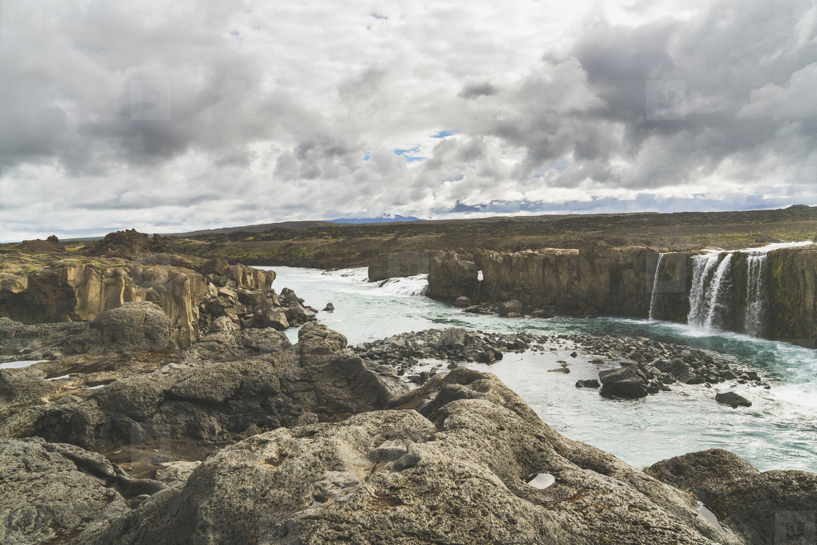 Hrafnabjargafoss Waterfall  01