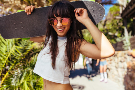Beautiful woman enjoying on her summer vacation