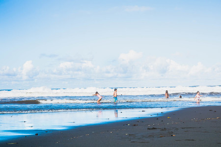 Black sand beach  Wapio Valley