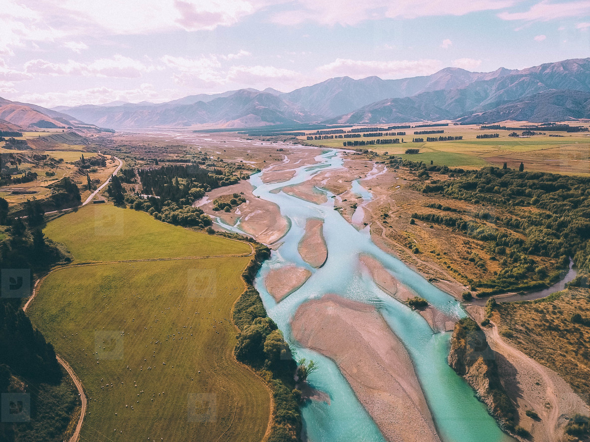Aerial view of Waiau River