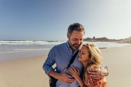 Mature couple on romantic beach vacation