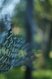 torn mesh wire