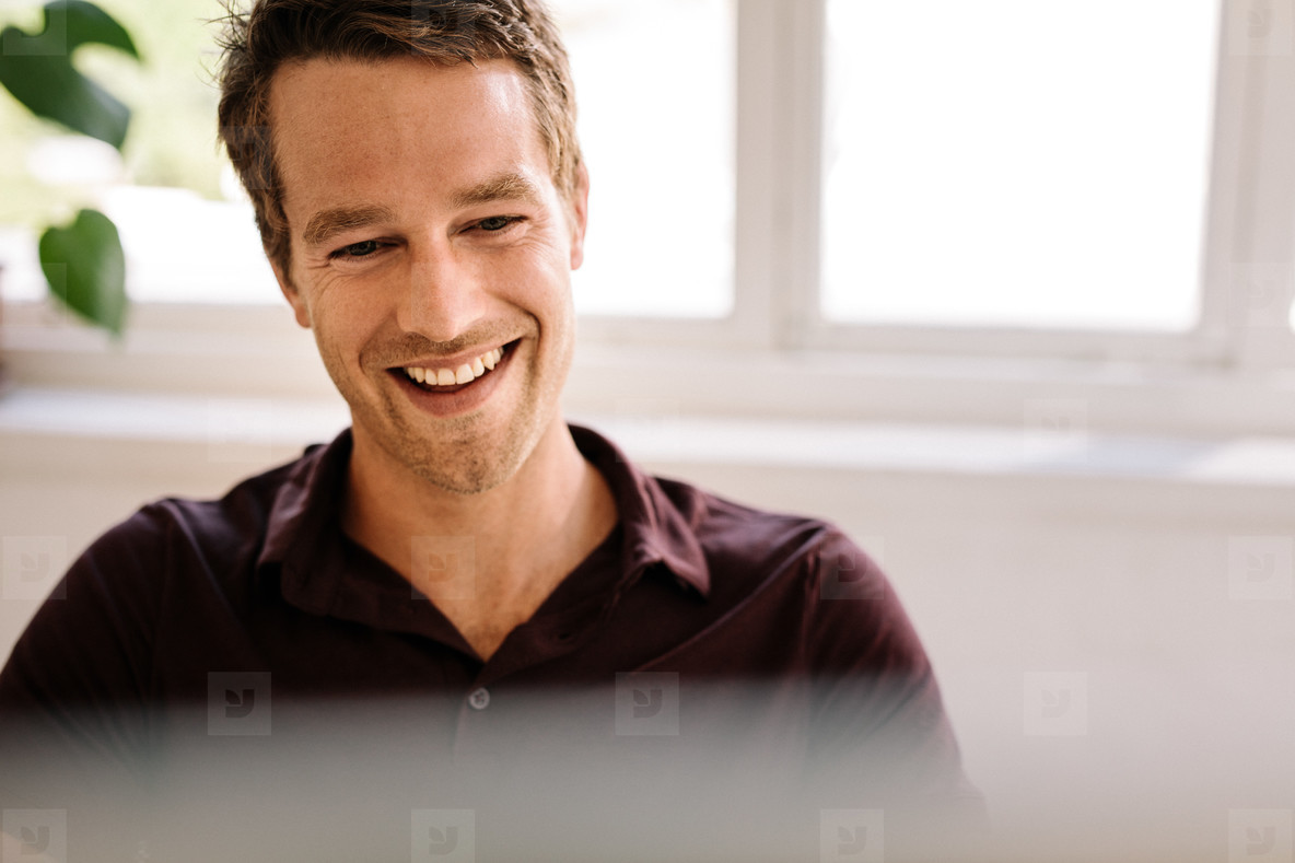 Close up of a smiling man