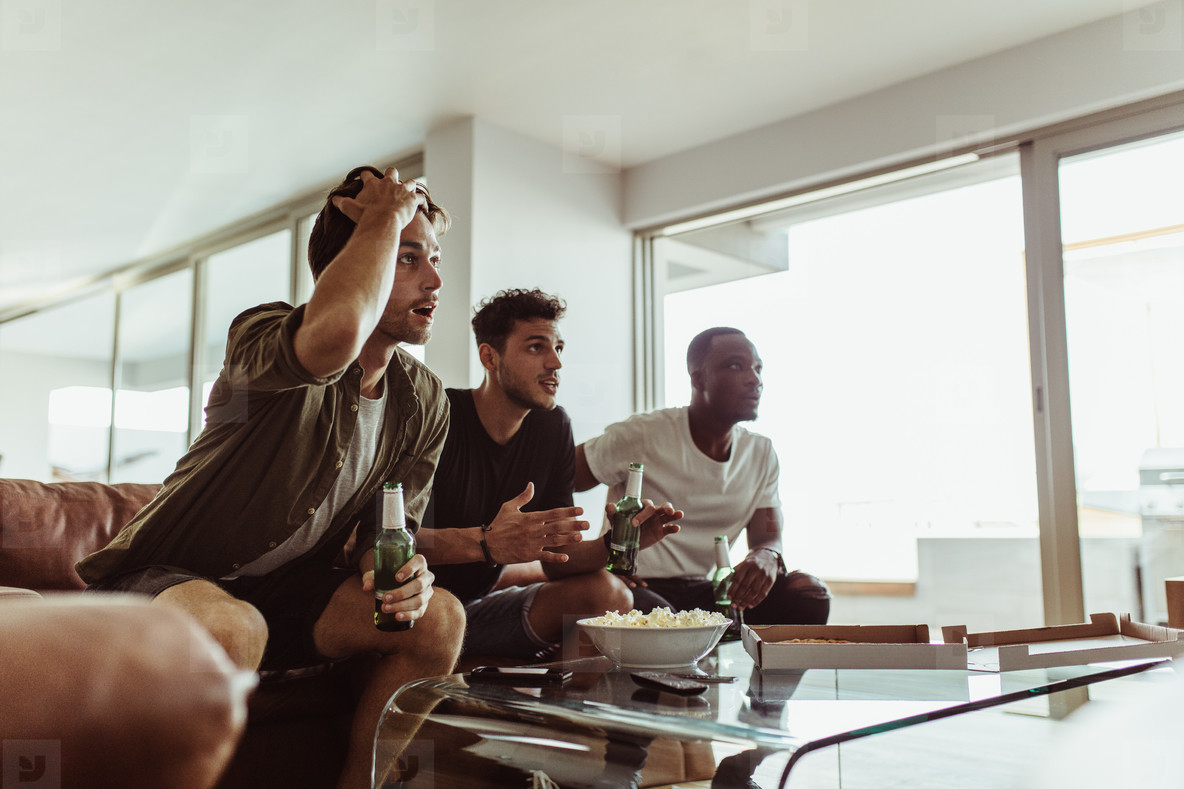 Men having fun at home
