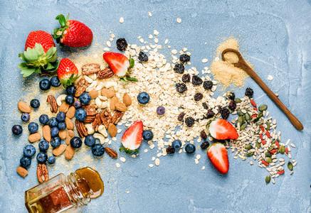Ingredients for cooking healthy breakfast