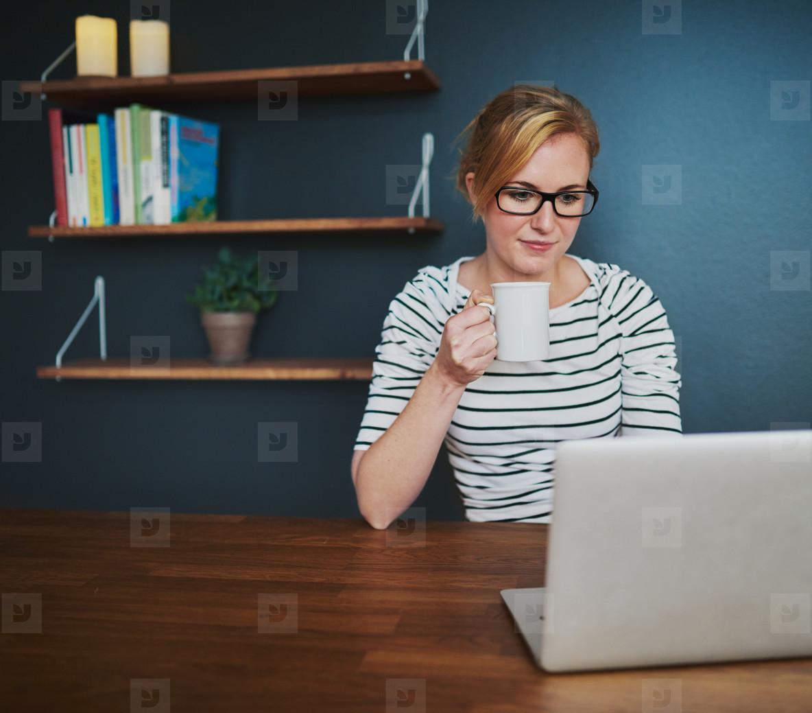 Female entrepreneur working at desk