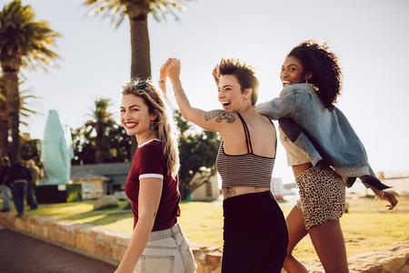 Female friends enjoying in a park