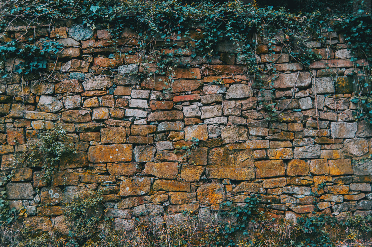 Texture of a wall in the mountain
