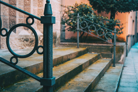Detail of a forged handrail
