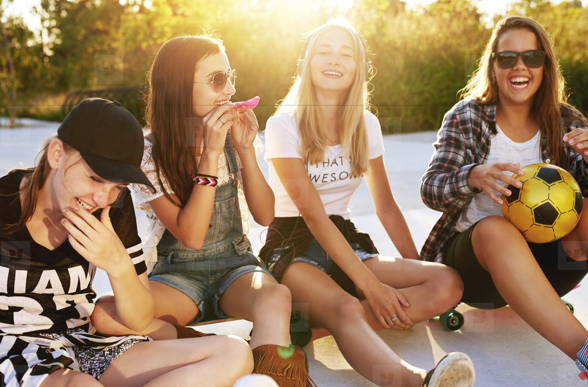 Friends enjoying the summer