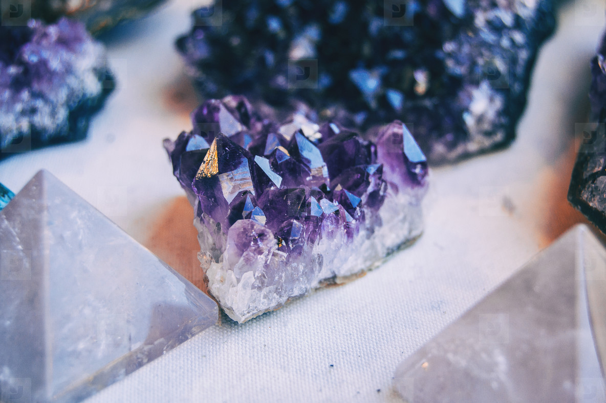 a piece of the amethyst mineral