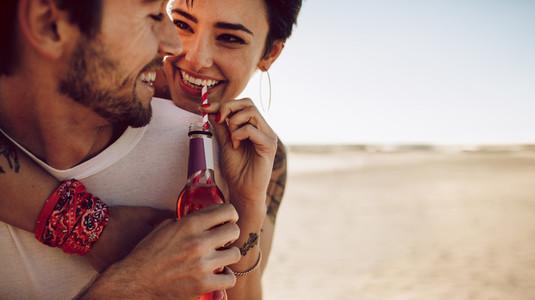 Couple on holiday enjoying outdoors